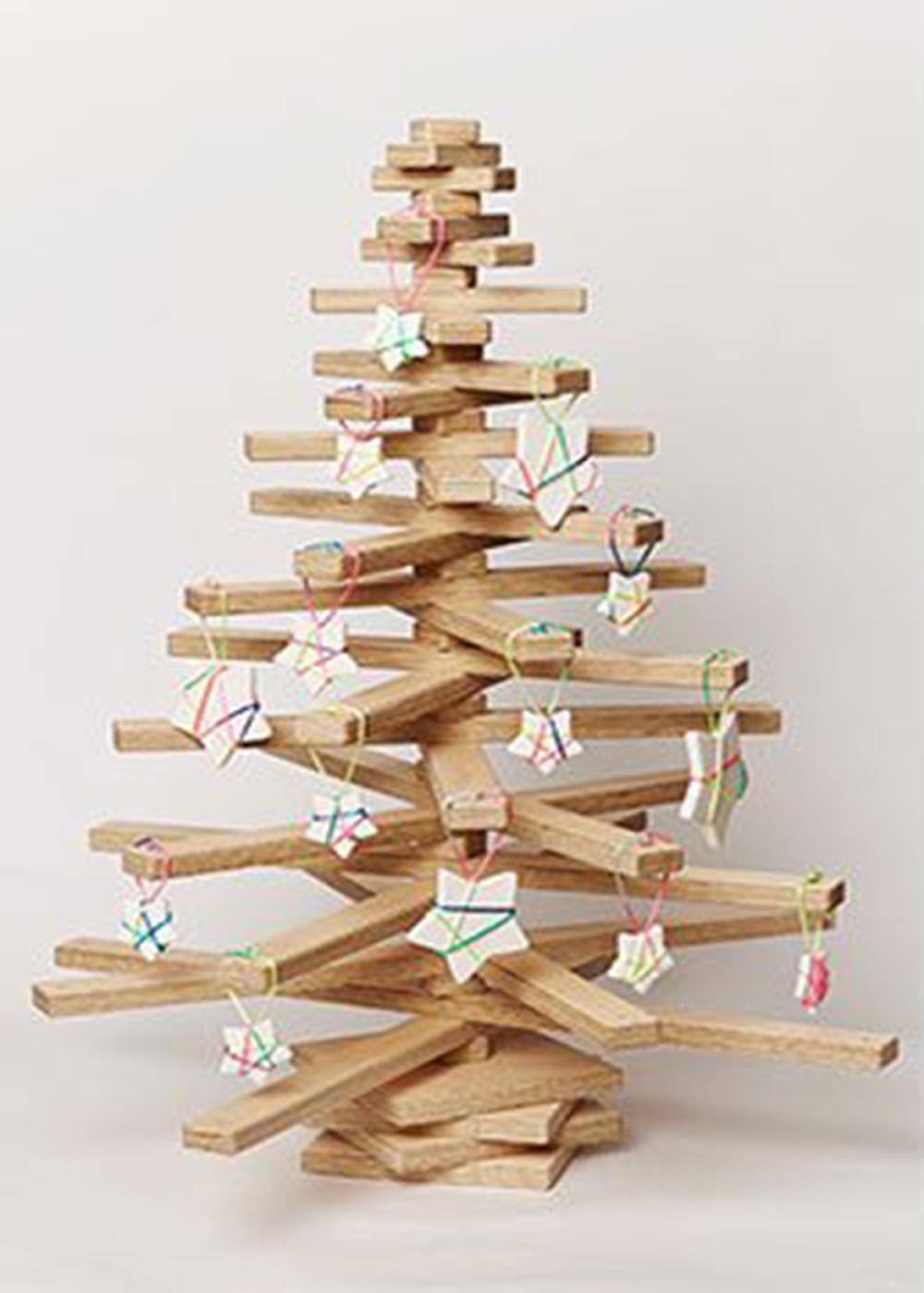 Com fer un arbre de nadal de fusta - Arboles de navidad de madera ...