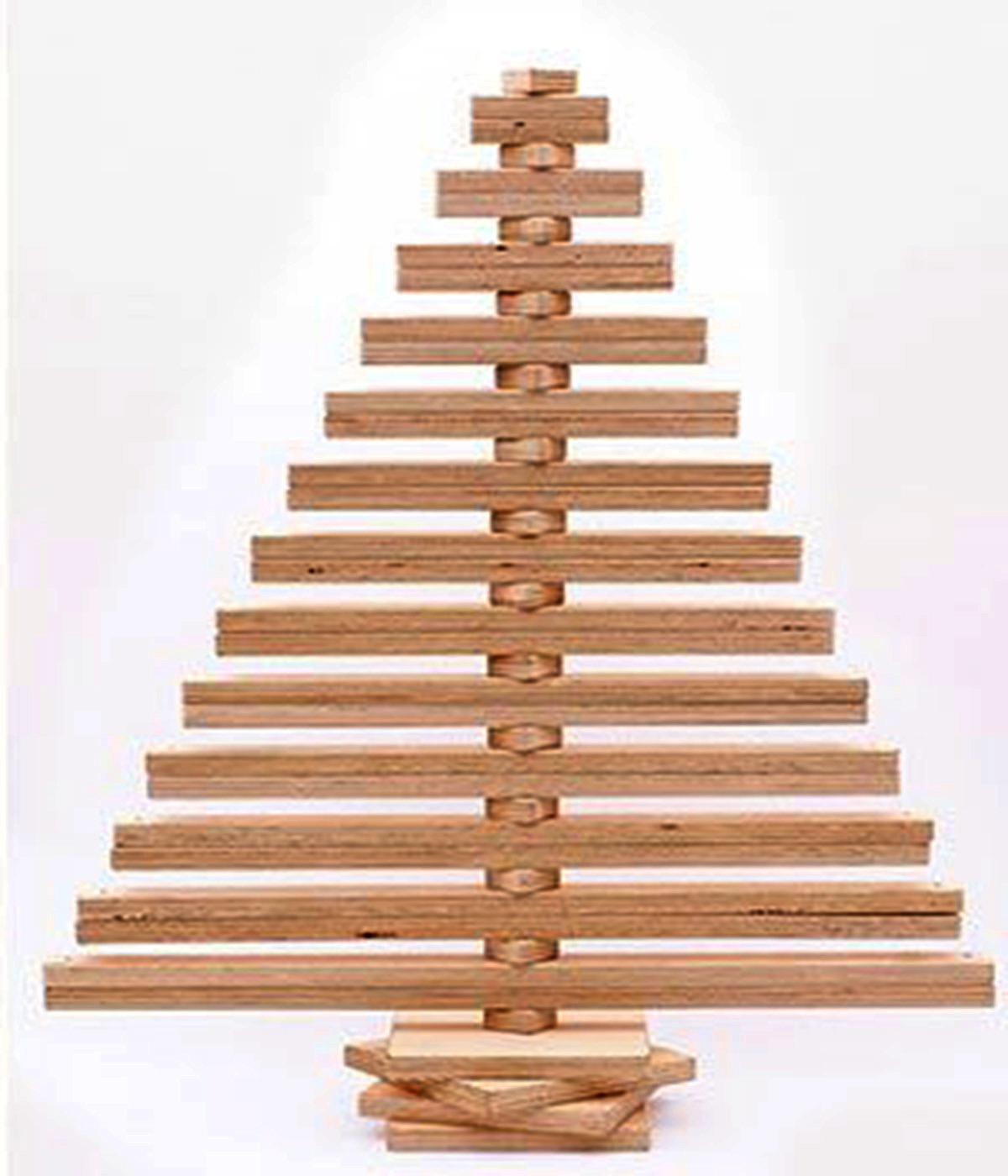 C mo hacer un rbol de navidad con madera ecohouses for La beta de la madera