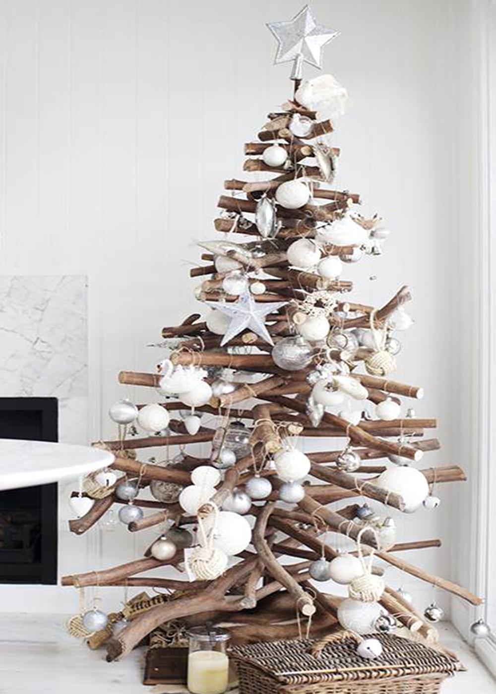 C mo hacer un rbol de navidad con madera ecohouses - Fotos arboles navidad decorados ...